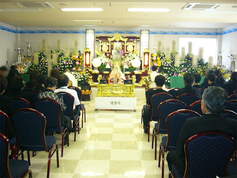 式場と祭壇